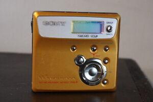Sony Walkman MZ-N505 Type R Portable MiniDisc Recorder Player Net MD Gold