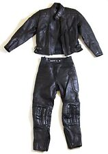 ASHMAN MOTORCYCLE LEATHERS SIZE 12 - GENUINE COWHIDE TOURING SUIT, RACING