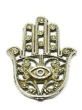 """Rare Vintage Islamic Necklace """" Hand of Fatima """" Hand Engraved"""