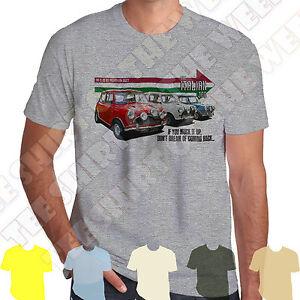 The Italian Job Mini Cooper Muck it up T-shirt 100% Cotton,  7 colours to choose