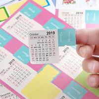 4Pcs 2018-2019 Annual Calendar Index Sticker Cute Stationery Label Mark Sticker