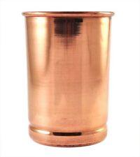 100%25 Copper Drinking Glass Cup Tumbler Mug 300 ml Ayurveda Health yoga Free Ship