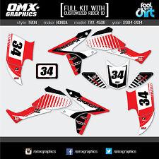 Honda TRX 450 R ATV Quad graphics decals stickers kit 2004-2014 Tron