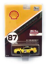 Auto World 1/64 Scale 2017 Yellow Ford Mustang Gt #87 Shell Oil Racing Car
