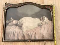 Large 1910 Fred Hartsook Hand Colored Photograph Of A Baby Antique Frame