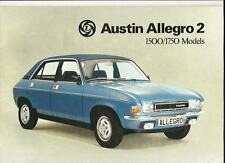 BRITISH LEYLAND AUSTIN ALLEGRO 2 1500 AND 1750 SALES BROCHURE AUG. 1976 FOR 1977