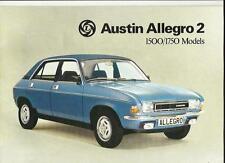 BRITISH LEYLAND AUSTIN ALLEGRO 2 1500 AND 1750 SALES BROCHURE OCT. 1977 FOR 1978