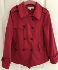 Witchery Girls Hot Pink Trench Style Jacket Size 6/7
