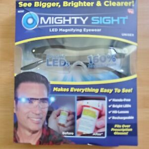 Mighty Sight 160% Magnifying Eye Wear Glasses Rechargeable LED