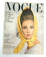 Vintage Vogue Magazine May 1963 Fashion Irving Penn Cover Swimsuits City Dresses