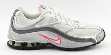WOMENS NIKE REAX RUN 5 RUNNING SHOES SIZE 7.5 WHITE GRAY PINK SILVER 407987 116