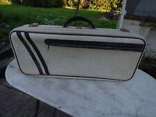 sac de tennis simili cuir blanc  vintage bag forme valise