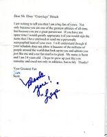 "Autographed Signed (""Legs"") Elroy Hirsch Fan Letter w/coa jhaut"