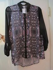 Studio Y Maurices -  Multi-color Pattern with  Black Blouse  Size M - New w/Tags
