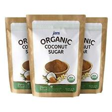 Jans Organic Coconut Sugar 16 oz - Pack of 3 Arrives in 4 BUSINESS DAY