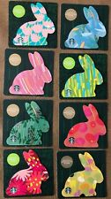 NEW EIGHT STARBUCKS EASTER BUNNY RABBIT COFFEE GIFT CARDS FREE SHIPPING