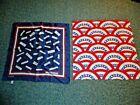 "2 vintage Millicent President Signatures US Patriotic Image Women's Scarves 21"""