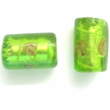 Silver Foil Glass Jewellery Making Craft Beads