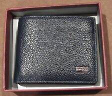 New Bruno Magli Men's Leather Wallet BGLW6000T Navy Color Retail $105