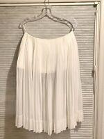 CELINE Pleated Knee-Length Skirt Size FR 38 (US 6)