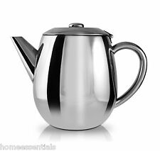 Cafe Ole Everyday 18/10 Stainless Steel 1L 35oz Tea Pot Dishwasher Safe