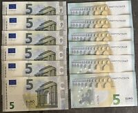 5 Euro Bill Europe Currency Money Banknote € 5 Five Euros Original UNCIRCULATED