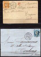 1373 - Francia - Cerere su 2 buste