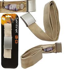Cinturón de dinero con bolsillo con cremallera oculta de Seguridad-Ideal para vacaciones o de viaje