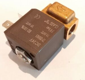 24v solenoid valve, gas, water, air, 1/8 NPT, normally closed, brass, for welder