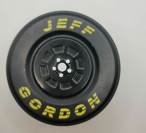 Nascar Jeff Gordon Collectibles Watch in Tire Tin Used, EMPTY