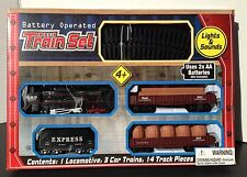Battery Operated Train Set -Lights + Sound 14 Feet of Track -NEW in BOX-