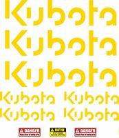 LARGE 550mm KUBOTA Decals Stickers for Digger Excavator Pelle Bagger