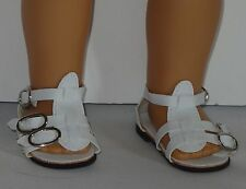 White Gladiator Sandals Fits 18 inch American Girl Dolls