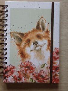 Gorgeous WRENDALE A5 Spiral Notebook 'POPPY FIELD' - FOX - NEW