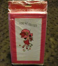 VTG American Greetings Valentine's Day Party Invitations Sealed Made in USA JV18