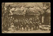 British Cwlth Africa Nigeria BAUCHI PLATEAU Sura Men Dancing 1922 PPC