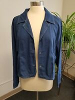 Women's Erika Denim Blue Shirt Jacket Size XL Erika