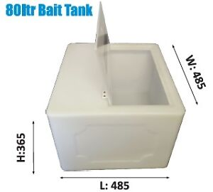 Live Bait Tank/Well Large Fishing Gear Boat 80Ltr.Aussie Made ASK FREIGHT PRICE