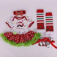 Reborn Clothing Newborn Dress Baby Girl Doll 20-22'' Clothes Dress Set Kid Gifts