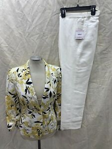 """KASPER PANT SUIT/SIZE 16/INSEAM32""""/NEW WITH TAG/RETAIL$240/LINEN BLEND"""