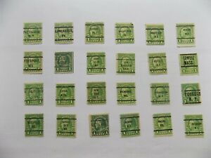 U S Coll'n of (24) all Different cities PRECANCEL DEFIN-9-9-B-1 c Franklin-