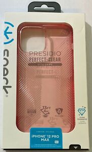 NEW Speck Presidio Perfect-Clear Grips Case for iPhone 12 Pro Max - Vintage Rose