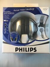 New Genuine Philips SBC HN110 Noise Canceling Headband Headphones Silver. 1027