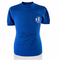 PROOF 1970 CHELSEA MULTI SIGNED SHIRT BY 5 WITH TAGS COA AUTOGRAPHS PHOTO PROOF