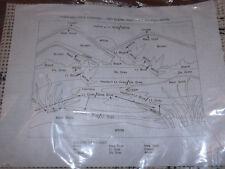"Rare Vtg 1979 ""Full Moon"" 24x30 Latch Hook Canvas Ducks & Pond Scenery Rug Nip"