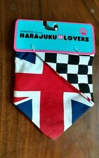NWT Union Jack Harajuku Lovers Warm Dog Bandana Size XSMall / SMALL