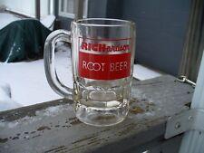 "Vintage RICHARDSON Brand ROOT BEER 5"" Glass Mug Red Lettering Unused"