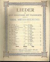 """Erik Meyer-Helmund,"""" Das Zauberlied """" Op. 21 Nr. 2,  alte, übergroße Noten"""