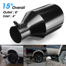 4'' Inlet 8''Outlet Car Exhaust Tip Tail Muffler End Trim Diesel Stainless Steel