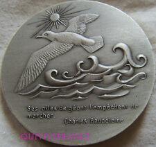 MED5283 - MEDAILLE ACADEMIE DES POETES DE FRANCE - L'ALBATROS - BAUDELAIRE